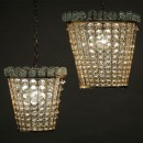 French 50's set of two Pendant lamps