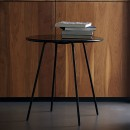 Contemporary Danish side table in black