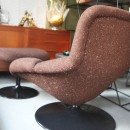 Vintage lounge chair F518 with ottoman