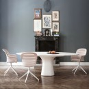 Podium Concrete oval dining table